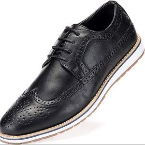 Everyday Casual Wingtip Oxford Shoes for Men sz 10